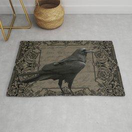 Vintage Halloween raven Rug