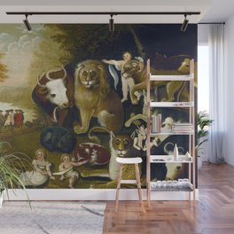 Classical Masterpiece 1833 'A Peaceable Kingdom' by Edward Hicks Wall Mural