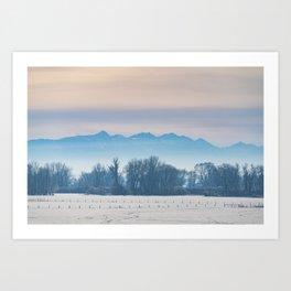 Spanish Peaks Fog Art Print