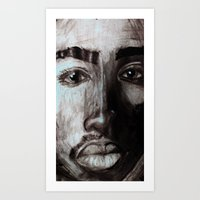 tupac Art Prints featuring Pop Cult™ - Tupac  by Lina Barbarin - Pop Cult™ & Aminals™