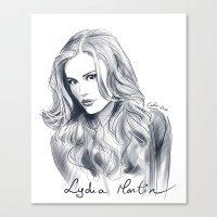 lydia martin Canvas Prints featuring Lydia Martin - Holland Roden by littlecofiegirl