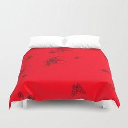 Red pattern Duvet Cover