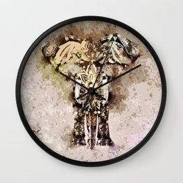 Abstract Elephant Painted Wall Clock