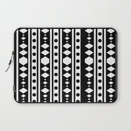 White tribal pattern Laptop Sleeve