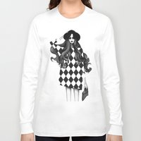 fashion illustration Long Sleeve T-shirts featuring Fashion Illustration by Sibling & Co.