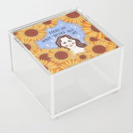 Focus on what brings you joy Acrylic Box