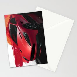 Aston Martin Vanquish S Digital Painting   Automotive   Car Stationery Cards