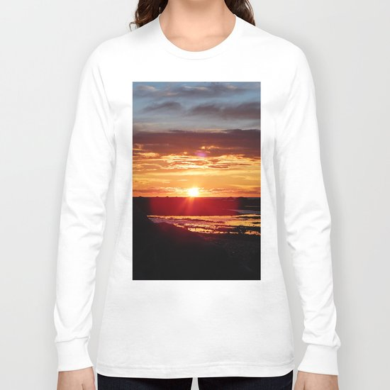 Ground Level Sunset Long Sleeve T-shirt