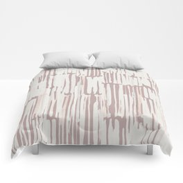Simply Bamboo Brushstroke Lunar Gray on Clay Pink Comforters