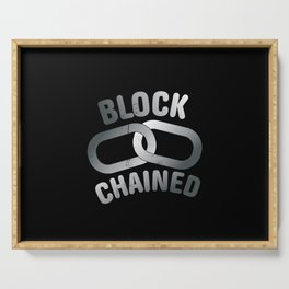 Block Chained Serving Tray
