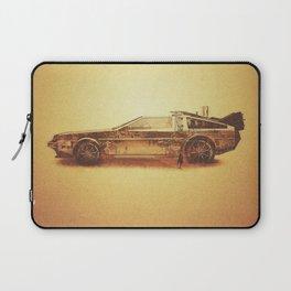 Lost in the Wild Wild West! (Golden Delorean Doubleexposure Art) Laptop Sleeve