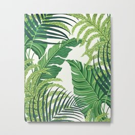Green tropical leaves II Metal Print