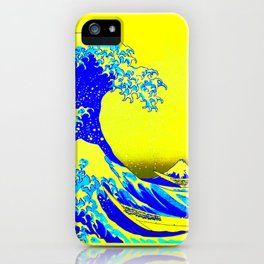 The Great Wave Remix in Lemon iPhone Case