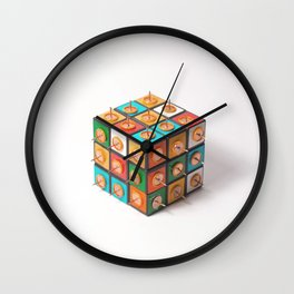 Rubik's cube - Solve It Wall Clock