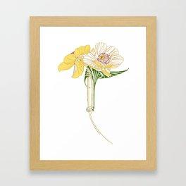 Art Nouveau Poppy Duet by Seasons K Designs Framed Art Print