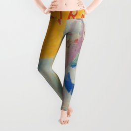 "Robert Delaunay ""Astra"" (also known as Study for ""The Football Players of Cardiff"") Leggings"
