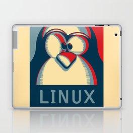 Linux tux penguin obama poster logo Laptop & iPad Skin