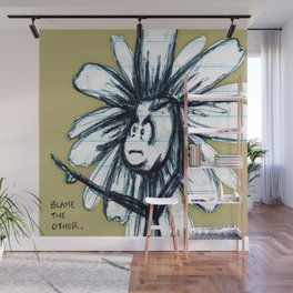 """Blame the Other"" Flowerkid Wall Mural"