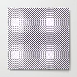 Loganberry Polka Dots Metal Print