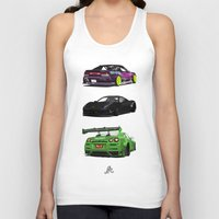 cars Tank Tops featuring Vectored Cars by Joker Designs