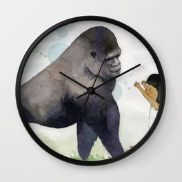 Hug me , Mr. Gorilla Wall Clock