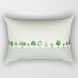 A Row Of Trees Rectangular Pillow