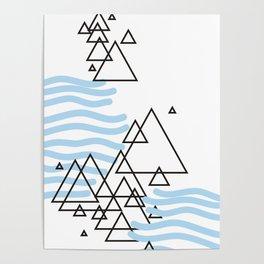 Ocean Mountains Island Poster