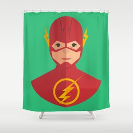 flat for flash Shower Curtain
