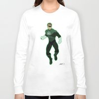 green lantern Long Sleeve T-shirts featuring Green Lantern by The Vector Studio
