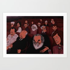 At The Movies Art Print