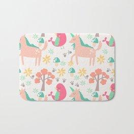 Cute cartoon unicorns & birds pattern Bath Mat