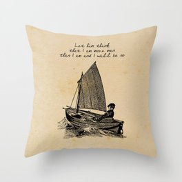 Ernest Hemingway - The Old Man and the Sea Throw Pillow