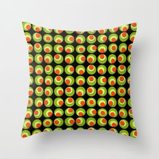 Green Olives and Pimentos  Throw Pillow