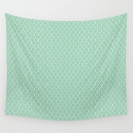 Chicken Wire Mint Wall Tapestry