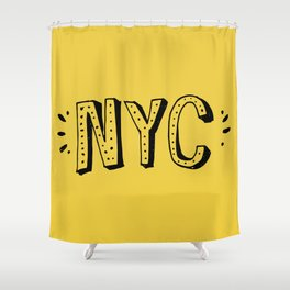 NYC lettering series: #2 Shower Curtain