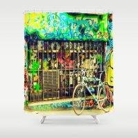 street art Shower Curtains featuring Street Art by Scarlett Alaska
