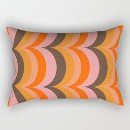 Retro Curves Rectangular Pillow