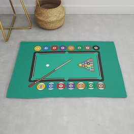 Billiards Table and Equipment Rug
