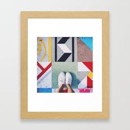 bright tiles Framed Art Print