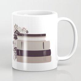 Neutral Book Stack Coffee Mug