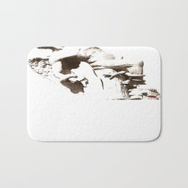 The Fallen Angel Bath Mat