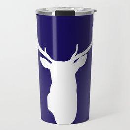 Deer Antler Navy Blue Travel Mug