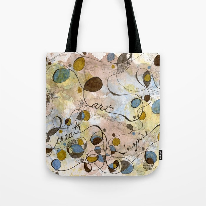 Flourish: Create, Art, Inpspire Tote Bag