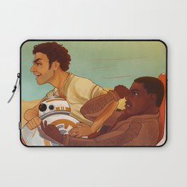 speeder ride with poe, finn and bb8 Laptop Sleeve