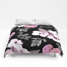 Night bloom - pink blush Comforters