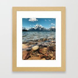 Crystal Clear Jackson Lake in Grand Teton Framed Art Print