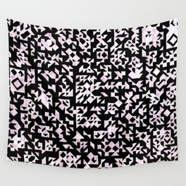 Inverted Black and White Randomness Wall Tapestry