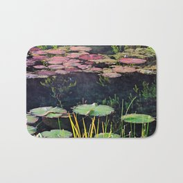 Lily Pads at Sunrise Bath Mat