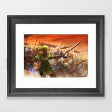 Legendary Battle  Framed Art Print