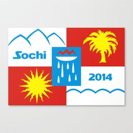 Sochi 2014 flag - Authentic version Canvas Print
